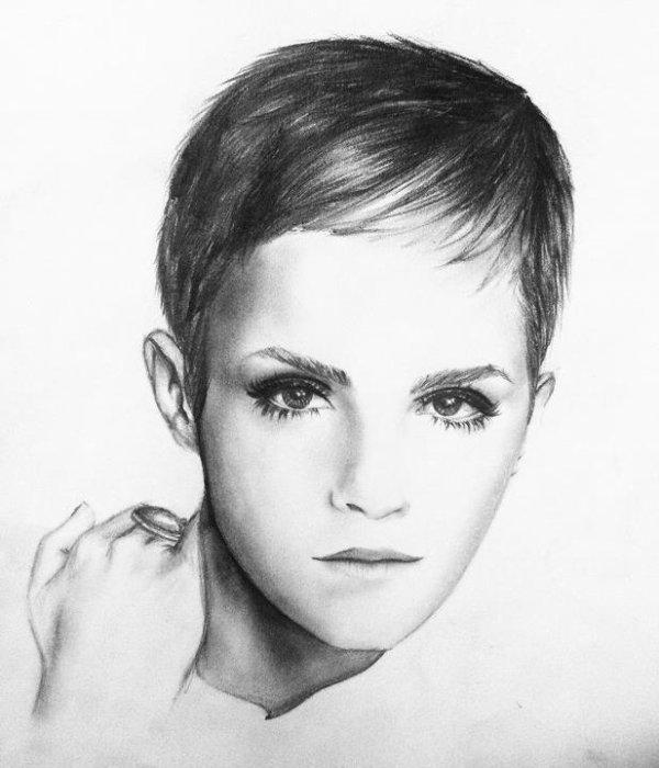 """.                                                          dessin : Emma watson ( hermion )  // """"Je ne cherche aucun ennui. Généralement, ce sont les ennuis qui me trouvent."""" (Harry à Hermione, Harry Potter et le prisonnier d'Azkaban )                                                            ."""