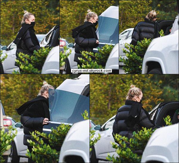 - 08.11.2020 ✪  Miley C. a été vue quittant une épicerie pour ses courses à Studio City.  -