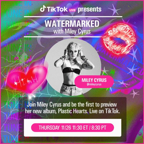 - 26.11.2020 ✪  Miley R. Cyrus a participé aux fameux : TikTok Watermarked épisode.  -