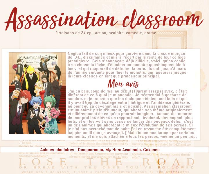 Assassination Classroom.