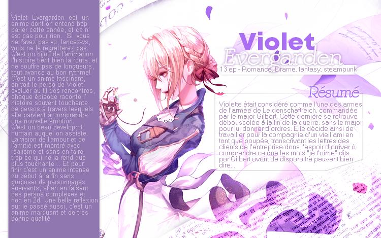 Violet Evergarden.