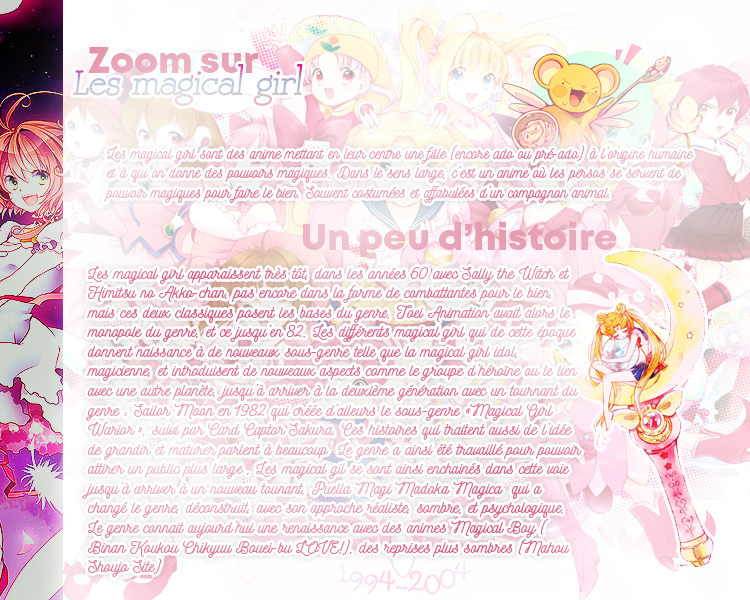 Zoom Sur : Les Anime Magical Girl.*