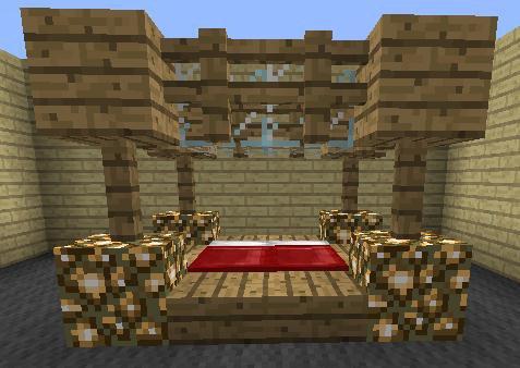 Un lit à baldaquin