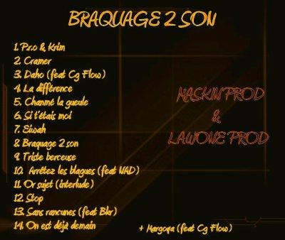 "TRACKLIST ""BRAQUAGE 2 SON"""