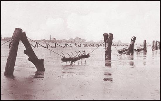 Une époque ou le surfcasting était compliqué sur la plage de Zuydcoote!