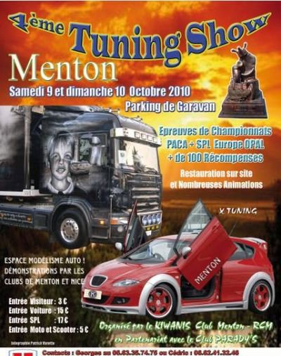 4ème Tuning Show de Menton Organisé par le KIWANIS Club Menton-RCM en partenaria avec le Club PARADY'S