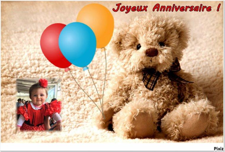 Cadeau pour mon amie Dany ( petitemamiedu13) .. Joli Anniversaire pour les 1an de ta petite Kelly ... Gros bisous Josie