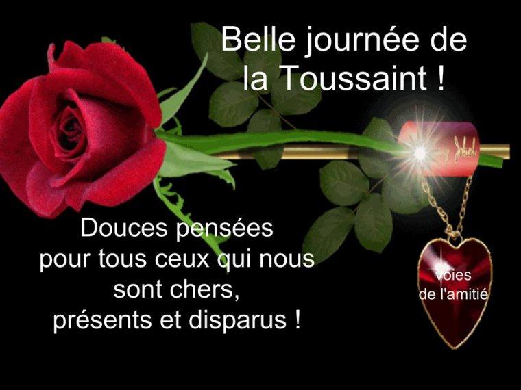 bonjour à tous mes amis(es) ... je vous souhaite une belle journée de mercredi 1er jour du mois de Novembre, et une bonne fête de la Toussaint... bisous Josie