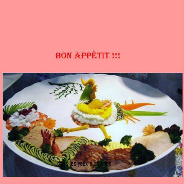 bonjour mes amis(es) .. je vous souhaite un excellent appétit, et un bon après midi de dimanche, ici avec le soleil .. bisous Josie