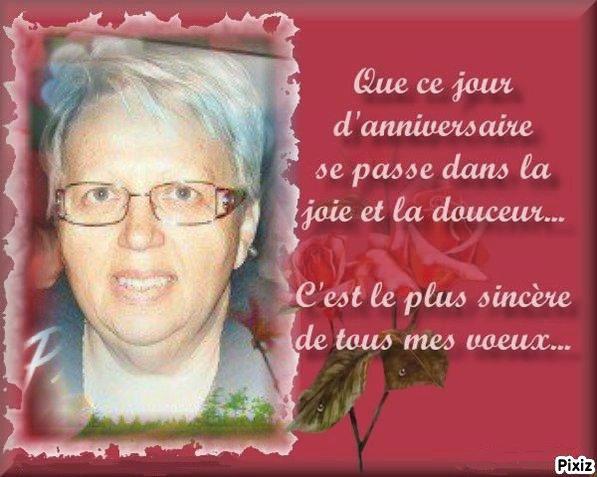 Joyeux Anniversaire à mon amie Thérèse ... je te souhaite beaucoup de joie et de bonheur ... Mille bisous du (l) Josie