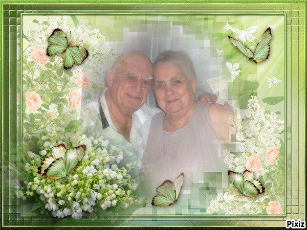Nicole & Roland, que ces quelques brins de muguet vous apportent de la joie et du bonheur ... Bisous du (l) Josie