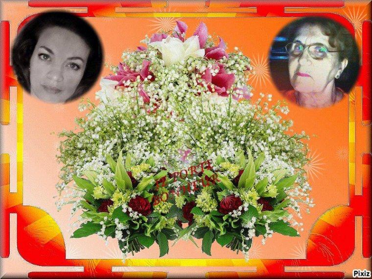 Cadeaux reçus de mes amies      _  Mimosa  _  Blanche _ Josy _ ... Merci bisous Josie