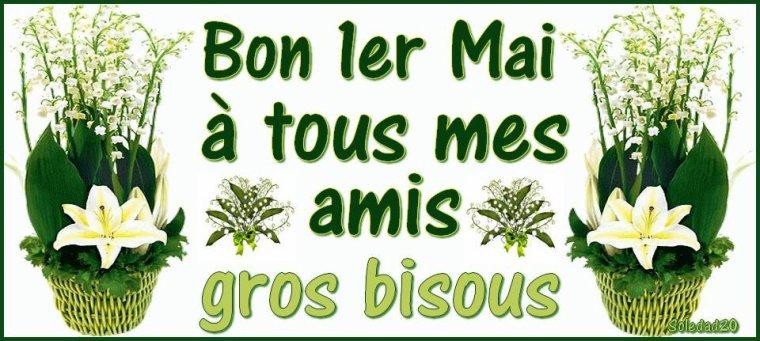 Bonjour à tous mes amis(es) ... je vous souhaite une très bonne journée du mardi 1er Mai ... bisous Josie