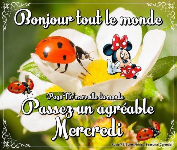 Bonjour mes amis(es) je vous souhaite un bon mercredi, ici encore la pluie,,,,, Gros bisous Josie