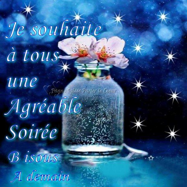 Bonne soirée mes amis(es) et une douce nuit à tous ... Bisous Josie
