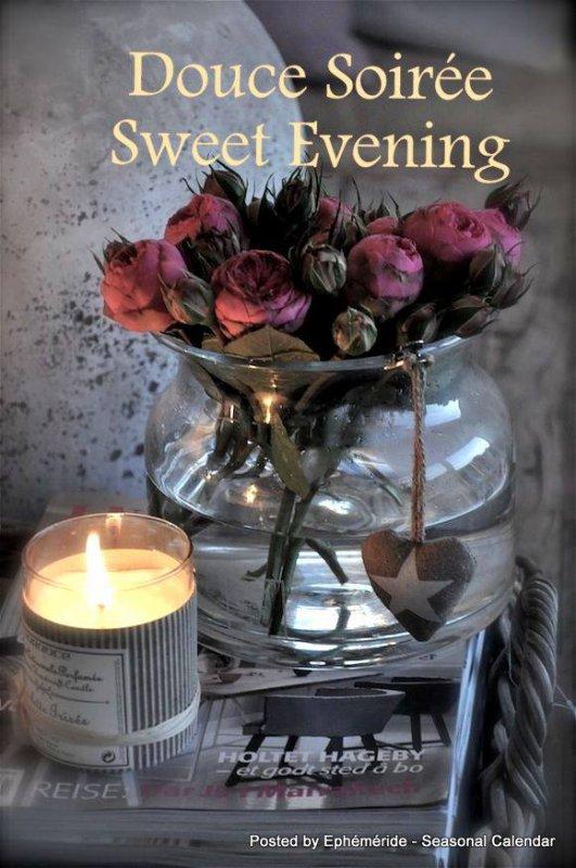Bonsoir je souhaite à tous mes amis(e)s une belle soirée .. une douce et agréable nuit  .. Gros bisous Josie