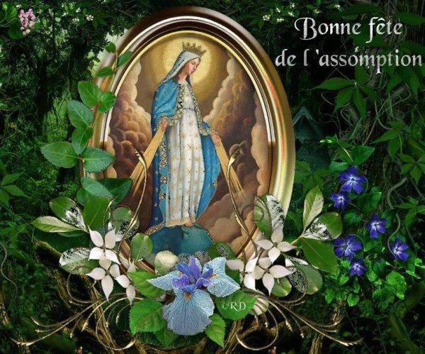 Bonjour mes amis(es) bon 15 Août à tous et une bonne fête à toutes les Marie ... Gros bisous Josie