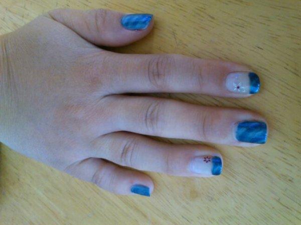 Ma main bleu