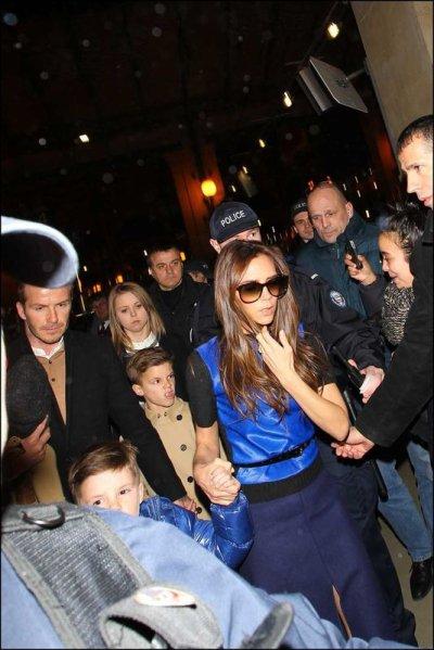 La famille Beckham débarque à Paris