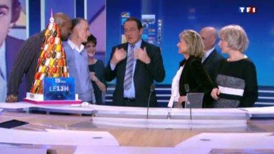 Jean-Pierre Pernaut fête ses 25 ans au JT de 13h de TF1