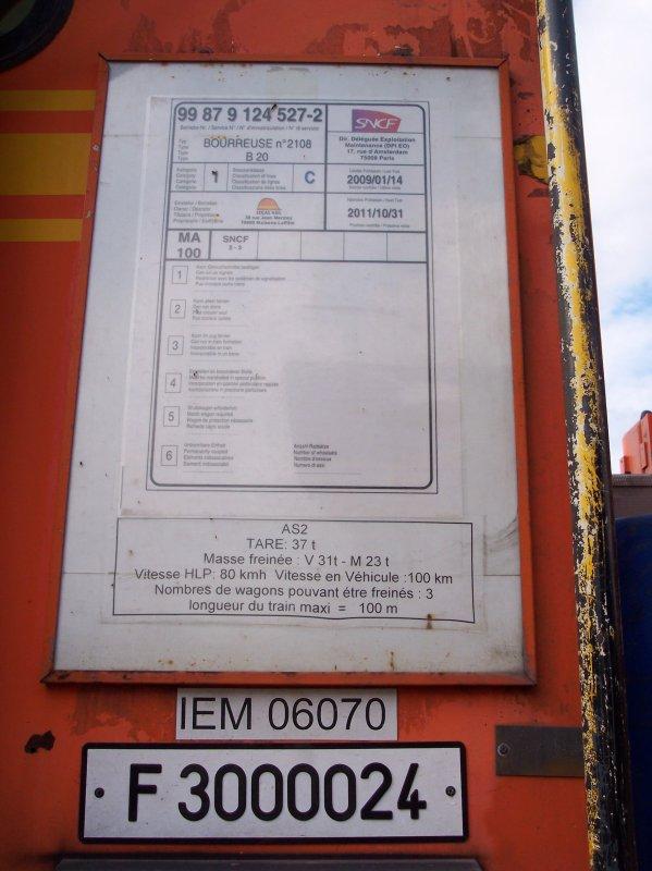 Bourreuse d'appareil B20 C75 - 99 87 9 124 527-2 - Colas Rail