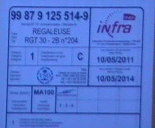 Régaleuse RGT 30 2B - 99 87 9 125 514-9 - TSO