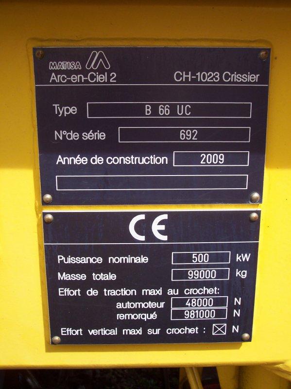 Bourreuse d'appareil B66 UC - 99 87 9 124 536-3 - Fourchard & Renard