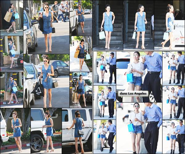 ''─ '08 JUILLET 2017:''  L'actrice, Lucy Hale à été repérée quittant le magasin de Rachel Comey se trouvant à - LA. Dans la même journée elle a été vue avec sa petite boisson quotidienne ainsi qu'en allant a un rendez-vous professionnel ! Un top !