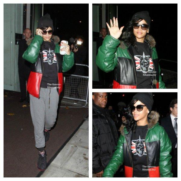 Rihanna quitte Londres