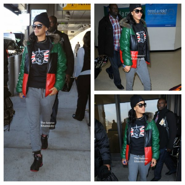 "Rihanna à l'aéroport "" JFK "" à New York"