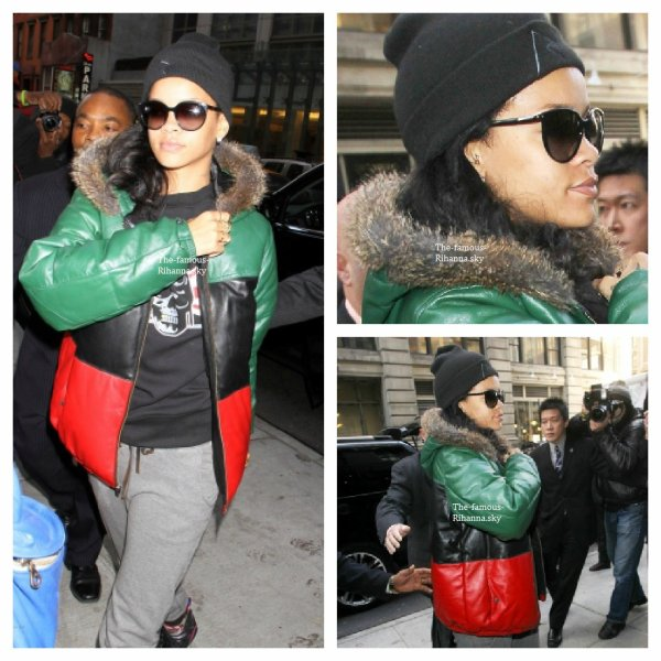 Rihanna arrive à son hôtel à New York