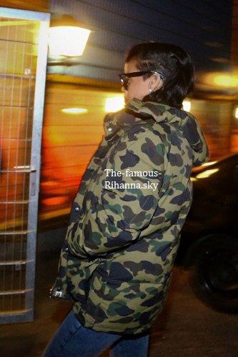 Rihanna se rendant à l'after-party de Chris Brown