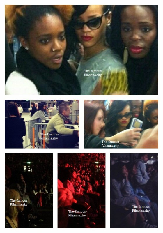 Rihanna assiste au concert de Chris Brown en Suisse