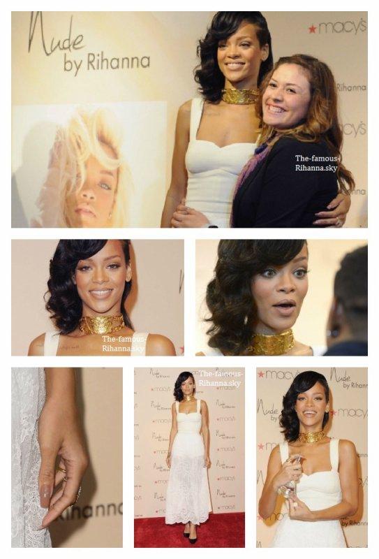 """Rihanna au lancement de """" Nude """" à Macy's"""