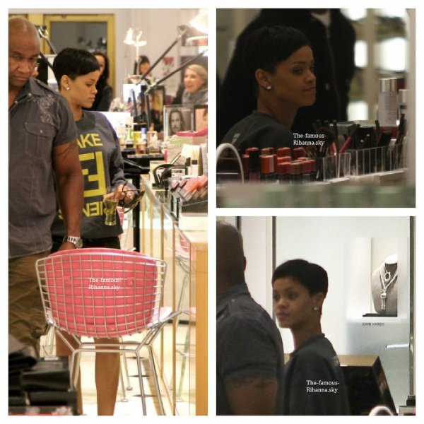 Rihanna fait du shopping à Los Angeles