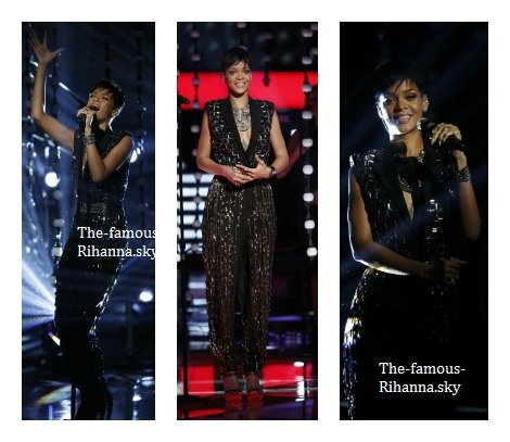 "Performance de Rihanna à "" The Voice US """