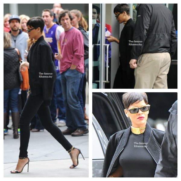 "Rihanna arrive au "" Staples Center "" à Los Angeles"