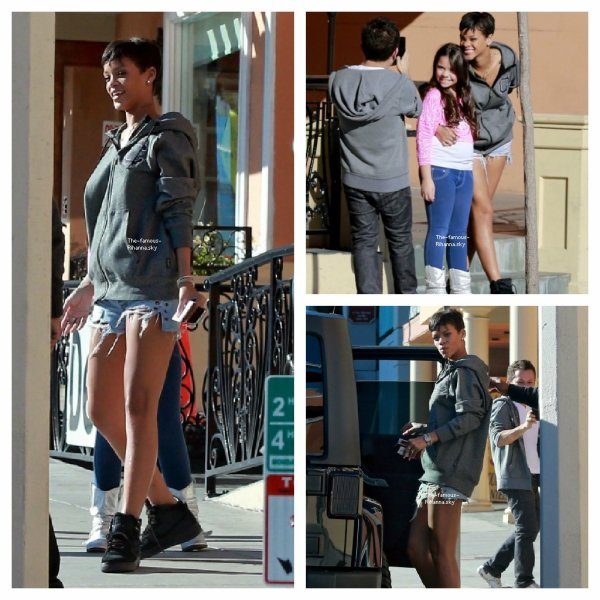 Rihanna quitte un salon de manucure