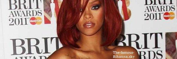 """Rihanna est nominée au """" Brit Awards """""""
