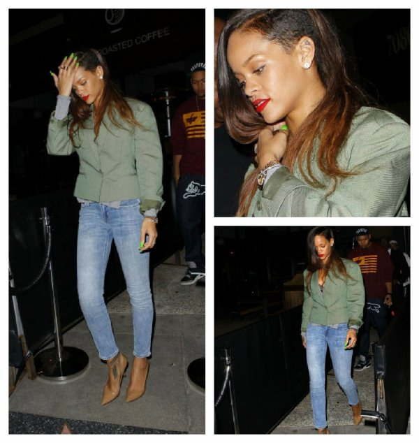 "Rihanna sortant du club "" Emerson """