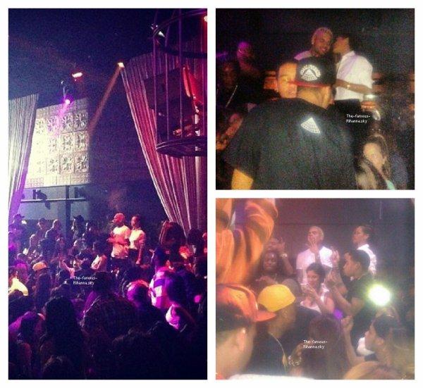 """Rihanna et Chris Brown au club """"Greyston """" à Los Angeles"""