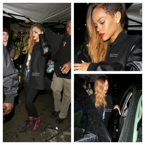 Rihanna quitte un club de Los Angeles