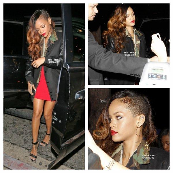 Rihanna rejoins Ne-Yo et Chris Brown au « Greystone » arrivé et départ