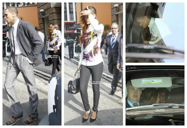 Rihanna accompagne Chris Brown au tribunal de Los Angeles