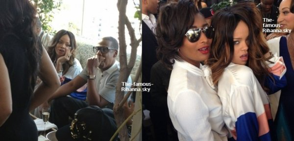 "Rihanna au brunch des "" Pré-Grammy Awards """