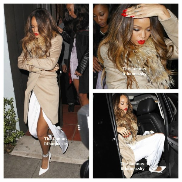 """Rihanna quitte le restaurant """" Mozza """""""