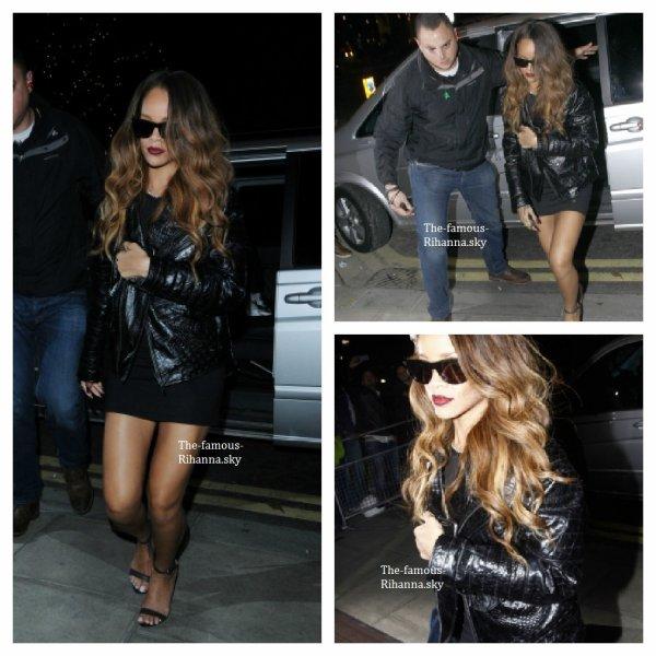 Rihanna de retour à son hôtel de Londres