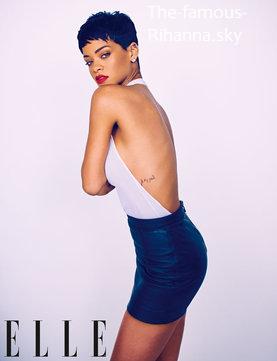 """Rihanna en couverture de """" ELLE UK """""""