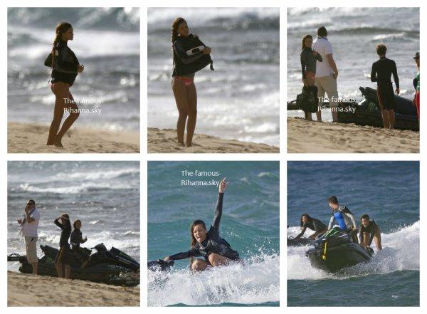 Rihanna fait du jet-Ski à Hawaï