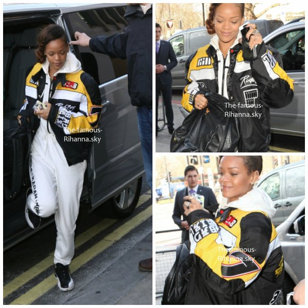 Rihanna arrive à Londres